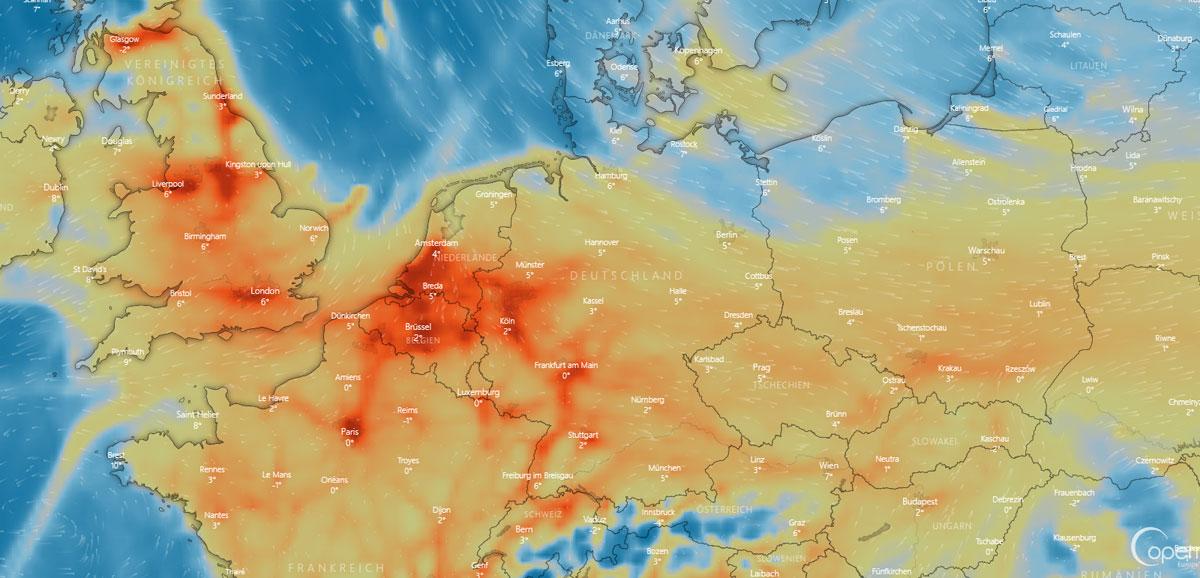 Wetter in Darmstadt: Regen, Baustelle und Sturm